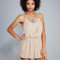 Ethereal Lacey Gauze Romper | Wet Seal