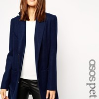 ASOS PETITE Coat with Biker Detail and Contrast Trim