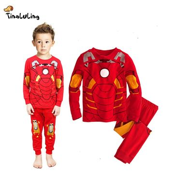 TINOLULING Marvel Avengers Sleepwear Boys iron Man Pyjamas Kids Captain America Hulk Pajamas Sets Baby Girls Toy Story Pijamas