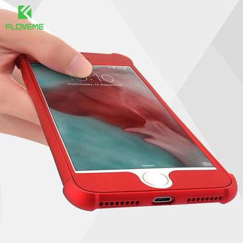 FLOVEME 360 Full Coverage Case For iPhone 6 6s 7 Plus Soft Airbag Protective Front Back Cover Cases For iPhone 7 6 6S Plus Shell
