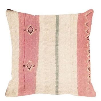 Pre-owned Moroccan Berber Pink Pillow