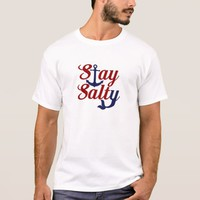 Stay Salty Nautical Art T-Shirt