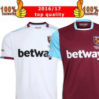 New 2017 WestHam United Soccer Jersey 2016/17 Home Red Away White Soccer Jersey 16 17 West Ham Football Shirts Thai Quality Jeresys