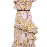M'O Exclusive Crystal Palace Silk Double Georgette Dress | Moda Operandi