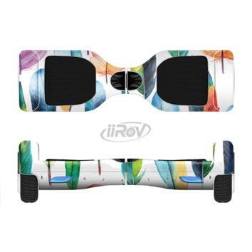 The Bright Water Color Painted Feather Full Body Skin Set for the Smart Drifting SuperCharged Transportation iiRov