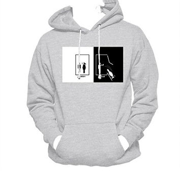 Harry Potter Ravenclaw MEN WOMEN UNISEX PULLOVER FUNNY GRAPHIC HOODIE - Grey