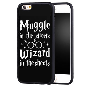 Harry Potter Muggle Printed Soft TPU Protective Shell Skin Phone Case For iPhone 6 6S Plus 7 7 Plus 5 5S 5C SE 4 4S Back Cover