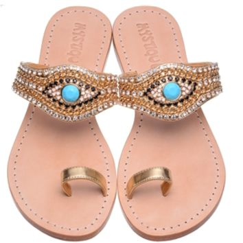 Mystique Evil Eye Sandals