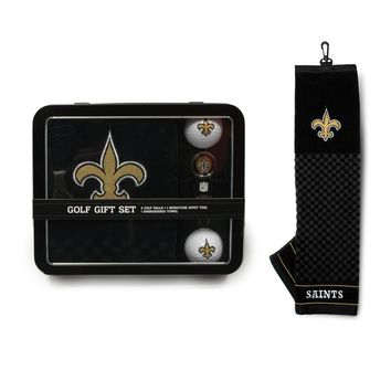 New Orleans Saints Golf Gift Set with Towel