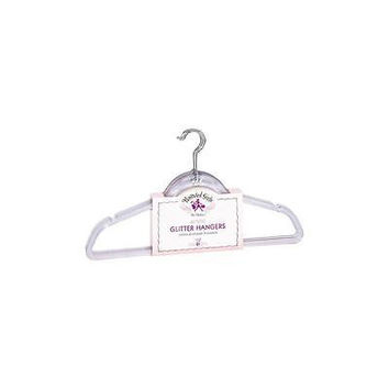 Unbranded Pampered Girls 6-Pack Clear Glitter Hangers
