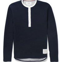 Thom Browne - Ribbed Cotton-Jersey Henley T-Shirt   MR PORTER