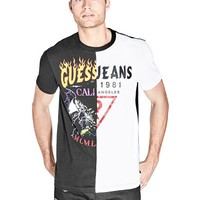 Brenner Split Logo Tee at Guess