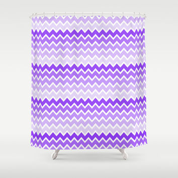 Purple Ombre Chevron Shower Curtain by decampstudios