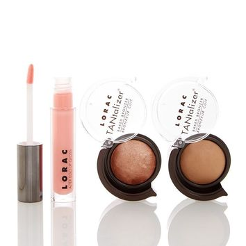 LORAC Take Me to TANtego Lip & Bronzer 3-Piece Set