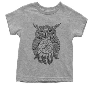 Black Owl Dreamcatcher Youth T-shirt