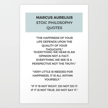 Stoic Philosophy Quote by Marcus Aurelius Art Print by Love from Sophie