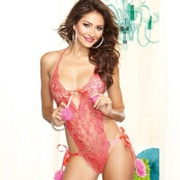 Hot Deal On Sale Cute Luxury Lace Embroidery Sexy Bikini Set Exotic Lingerie [6596516995]