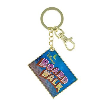 Disney Parks Boardwalk Postcard Keychain New with Tags