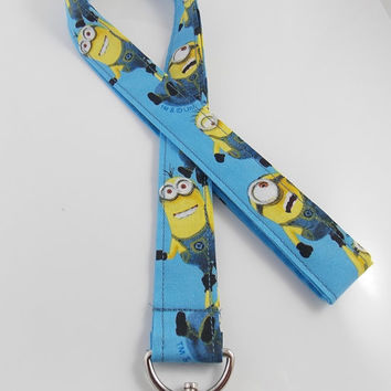 Minions Lanyard Teacher Lanyard  Minions Car Keychain Bello Minions Necklace Despicable Me Keychain   Despicable Me Key Ring Minion Lanyard