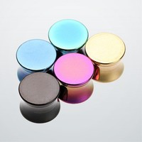 Titanium Anodized Double Flared Ear Gauge Plug (Sold in Pair)
