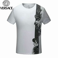 VERSACE new street fashion men's round neck loose short-sleeved T-shirt