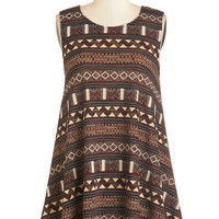 ModCloth Boho Long Sleeveless Swing a Song Tunic