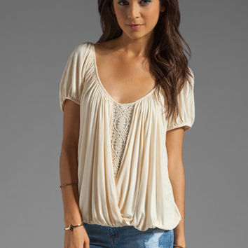 Free People Ann's Ruched Top in Tea from REVOLVEclothing.com