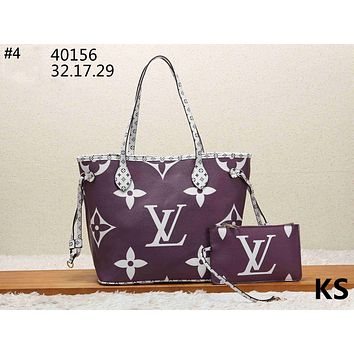 LV tide brand female models simple large capacity handbag shoulder bag two-piece #4