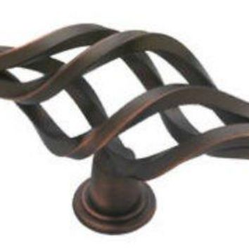 "Liberty PN1780-VBR-C Ball End Bird Cage Knob, 5-1/16"", Bronze with Copper"