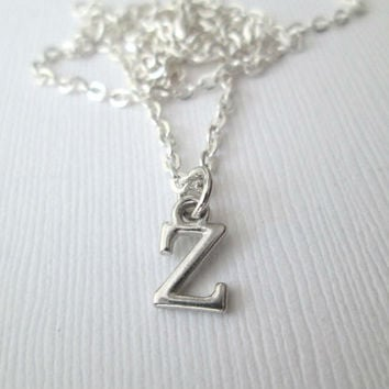 Tiny Z Initial Necklace