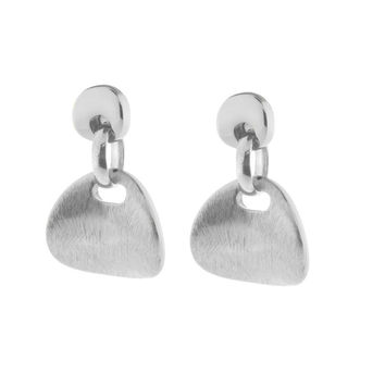 High Fashion Italian Earrings for Women | Satin Finished Sterling Silver