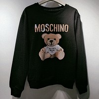 Moschino Women or Men  Fashion Casual Loose Top Sweater Pullover