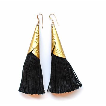 Often Wander - Jingle Earrings | Black