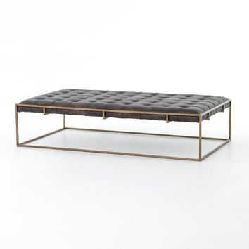 WEXFORD COFFEE TABLE,  RAILTO EBONY,  ANTIQUE BRASS