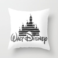 Disney Castle  Throw Pillow by Elyse Notarianni