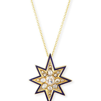 Turner & Tatler Victorian Eight-Point Star Necklace with Diamonds