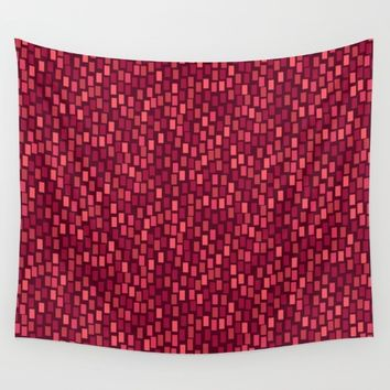 MOSAICS: RED WINE Wall Tapestry by Eileen Paulino