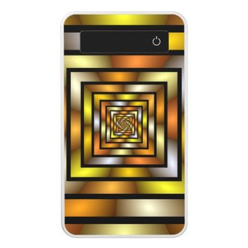 Luminous Tunnel Colorful Graphic Fractal Pattern Power Bank