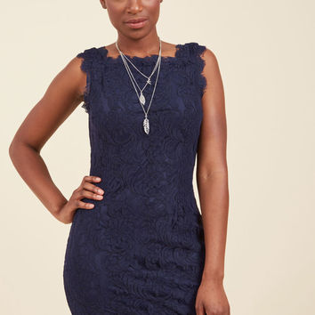 Wondrous in a Million Lace Dress in Navy