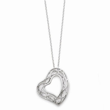 Sterling Silver Amazing Love Heart Necklace
