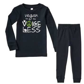 vegan for the voiceless Infant long sleeve pajama set