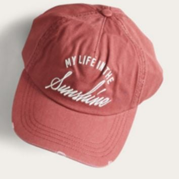 Billabong Surf Club Cap My Life In the Sunshine | Vintage Plum