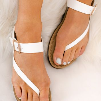 Heading To The Beach Sandals (White)