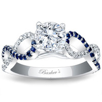 Barkev's Blue Sapphire Twist Diamond Engagement Ring