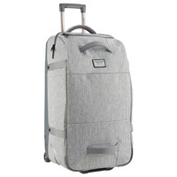 Burton: Wheelie Double Deck Travel Bag - Grey Heather Diamond Ripstop