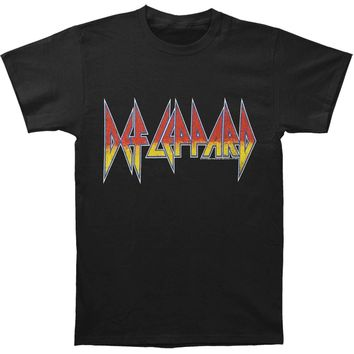 Def Leppard Men's  Logo T-shirt Black