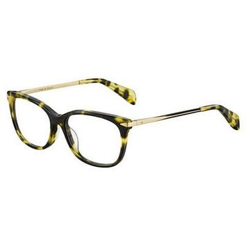 Rag & Bone - Rnb 3006 52mm Havana Green Gold Eyeglasses / Demo Lenses
