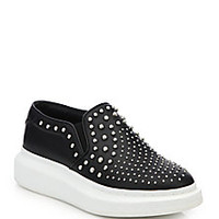 Alexander McQueen - Studded Leather Slip-On Sneakers - Saks Fifth Avenue Mobile