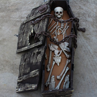 27pcs Halloween Haunted House Props Skull skeleton Human Body Party Bar Decorations Plastic Frame Scary Room haunted house Props
