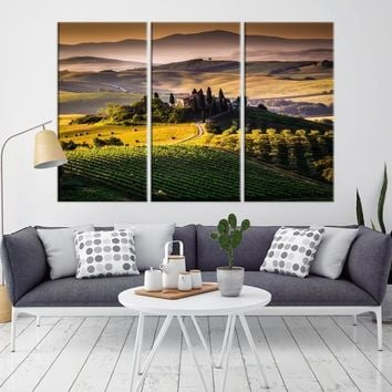 56924 - Forest Landscape From Hill Canvas Print